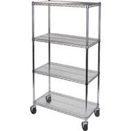"MJ530 Chromate Shelf Carts  36""Wx24""Dx74""H"