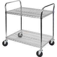 "MK784 Chromate Carts 2-shelf 60""Wx18""x39""H"