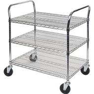 "MJ545 Chromate Carts 3-shelf 60""Wx24""x39""H"