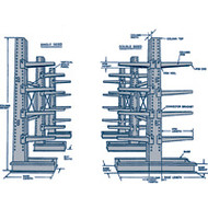 "RL734 MD Cantilever DS (STARTER Unit) 36""Wx42""Dx84""H"