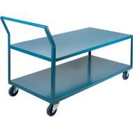 "MB434 HD Shelf Carts Low Profile30""Wx60""Dx40""H"