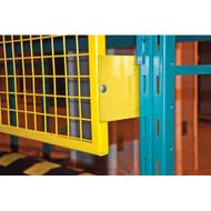 "RL931 Back Guards for Pallet Racking (12"" brackets) 4'H x 8'W"