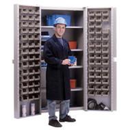 "CB694 Storage Cabinets Stone bins38""Wx24""Dx72""H"