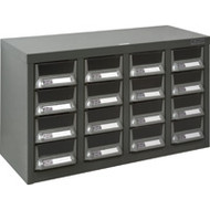 """CF298 16 clear drawers21.3""""Wx8.7""""Dx13.8""""H"""