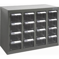 """CF305 16 clear drawers18.3""""Wx8.7""""Dx13.8""""H"""