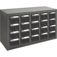 """CF306 20 clear drawers23.1""""Wx8.7""""Dx13.8""""H"""