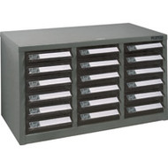 """CF293 18 clear drawers21.3""""Wx10.4""""Dx12.2""""H"""