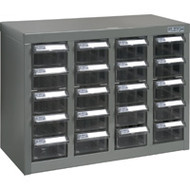 """CF312 20 clear drawers18.3""""Wx8.7""""Dx13.8""""H"""