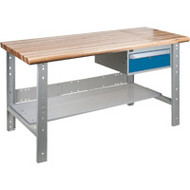 """FG281 Workbenches (laminated wood tops) 24""""Wx60""""Lx34""""H"""