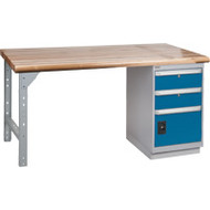 "FG094 Workbenches (laminated wood tops) 36""Wx60""Lx34""H"