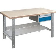 """FG294 Workbenches (shop grade wood tops) 30""""Wx60""""Lx34""""H"""