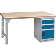 """FH890 Workbenches (shop grade wood tops) 24""""Wx60""""Lx34""""H"""