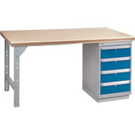 """FH894 Workbenches (shop grade wood tops) 24""""Wx60""""Lx34""""H"""