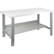 "FF696 Workbenches (laminated plastic tops)  30""Wx72""Lx34"""