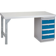 """FG270 Workbenches (laminated plastic tops) 30""""Wx60""""Lx34""""H"""