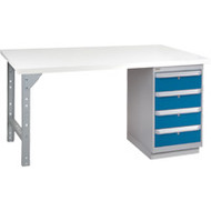"""FH896 Workbenches (laminated plastic tops) 24""""Wx60""""Lx34""""H"""