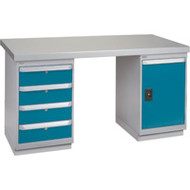 """FG132 Workbenches (steel-wood fill tops) 24""""Wx60""""Lx34""""H"""