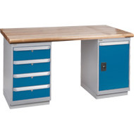 """FG118 Workbenches (laminated wood tops) 24""""Wx60""""Lx34""""H"""