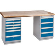 """FG622 Workbenches (laminated wood tops) 30""""Wx60""""Lx34""""H"""