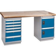 """FG463 Workbenches (laminated wood tops) 24""""Wx60""""Lx34""""H"""