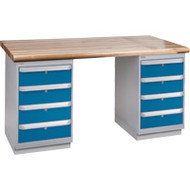 """FG217 Workbenches (laminated wood tops) 24""""Wx60""""Lx34""""H"""