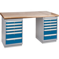 """FG419 Workbenches (laminated wood tops) 36""""Wx60""""Lx34""""H"""