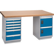 "FH914 Workbenches (shop grade wood tops) 24""Wx60""Lx34""H"