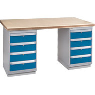 "FG231 Workbenches (shop grade wood tops) 30""Wx72""Lx34""H"
