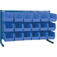 """CB154 LOUVERED Bench Racks/BLUE bins 5 1/2""""W x 10 7/8""""D x 5""""H"""