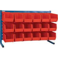 """CB155 LOUVERED Bench Racks/RED bins 5 1/2""""W x 10 7/8""""D x 5""""H"""