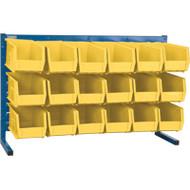 "CB156 LOUVERED Bench Racks/YELLOW bins 5 1/2""W x 10 7/8""D x 5""H"