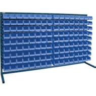 """CB172 LOUVERED Bench Racks/RED bins 4 1/8""""W x 7 3/8""""D x 3""""H"""