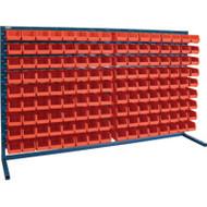 """CB173 LOUVERED Bench Racks/RED bins 4 1/8""""W x 7 3/8""""D x 3""""H"""