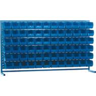 """CB175 LOUVERED Bench Racks/BLUE bins 5 1/2""""W x 10 7/8""""D x 5""""H"""