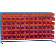 """CB176 LOUVERED Bench Racks/RED bins 5 1/2""""W x 10 7/8""""D x 5""""H"""