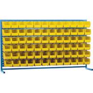 "CB177 LOUVERED Bench Racks/YELLOW bins 5 1/2""W x 10 7/8""D x 5""H"