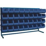 """CB184 LOUVERED Bench Racks/BLUE bins 8 1/4""""W x 14 3/8""""D x 7""""H"""