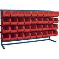 """CB185 LOUVERED Bench Racks/RED bins 8 1/4""""W x 14 3/8""""D x 7""""H"""