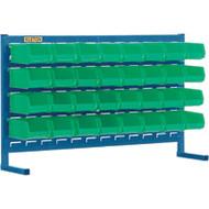 "CF359 LOUVERED Bench Racks/GREEN bins 4 1/8""W x 5 3/8""D x 3""H"