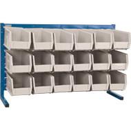 "CF364 LOUVERED Bench Racks/STONE bins 5 1/2""W x 10 7/8""D x 5""H"