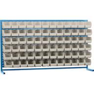 "CF368 LOUVERED Bench Racks/STONE bins 5 1/2""W x 10 7/8""D x 5""H"