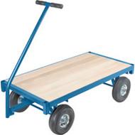 """MD186 Ergonomic Wagons (wood deck) 24""""Wx48""""L"""