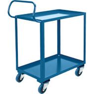ML561 Shelf Carts HD Ergonomic 2 shelves (rubber casters) Starting At