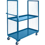 Utility Carts Wire Mesh Utility (Polyurethane Casters) 2 Sides/2 Shelves Starting at