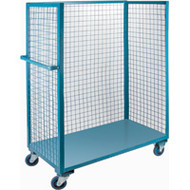 Utility Carts Wire Mesh Utility (Polyurethane Casters) 3 Sides/1 Shelf Starting at