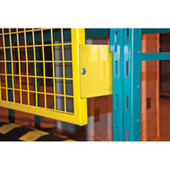 """X-RL935 Back Guards for Pallet Racking (6"""" brackets) 4'H x 10'W"""