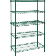 "RL664 EPOXY Shelving (STARTER/5 shelf) 48""Wx18""Dx74""H"