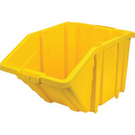 """CF330 Jumbo Stackable Plastic Bins (YLW) 15.5""""Wx25""""Dx13""""H"""