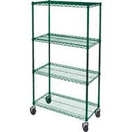 "RL806Epoxy Shelf Carts (4-shelf) 36""Wx24""Dx74""H"