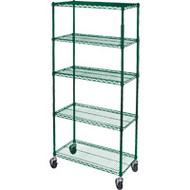 "RL809 Epoxy Shelf Carts (5-shelf) 36""Wx18""Dx86""H"